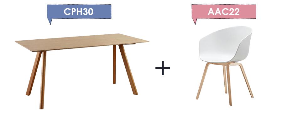 Copenhague Desk CPH30 + About A Chair AAC22