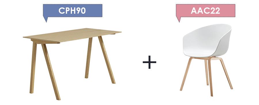 Copenhague Desk CPH90 + About A Chair AAC22