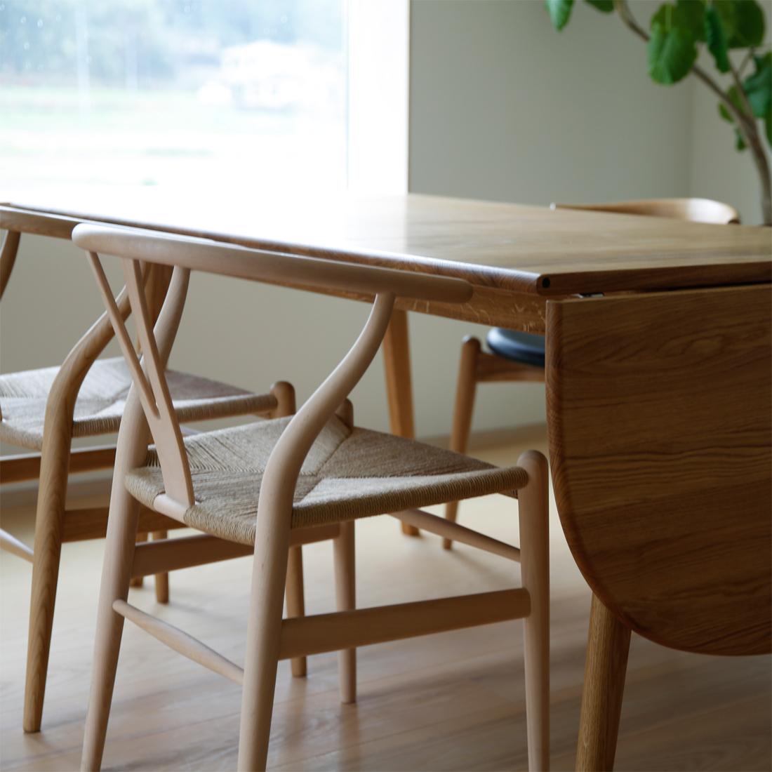 テーブルch006の角のない天板