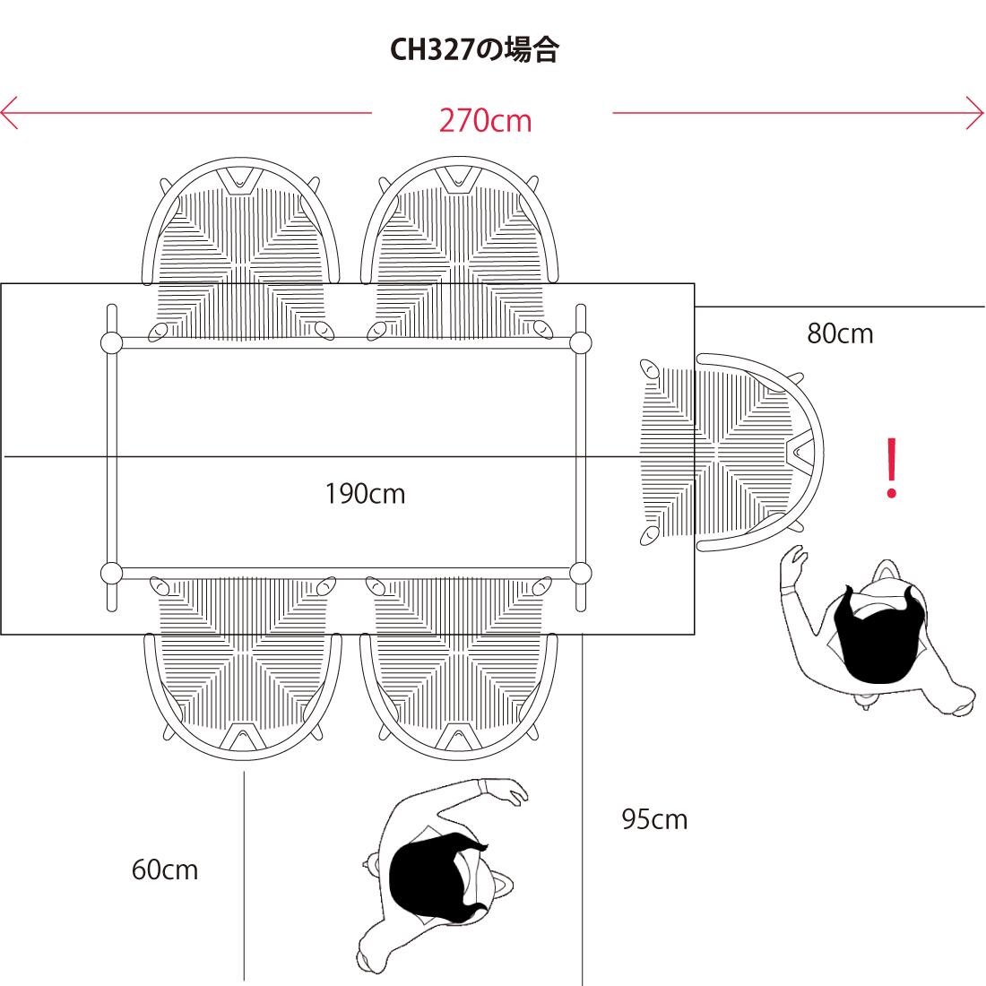 ch006とch327の配置比較のイラスト