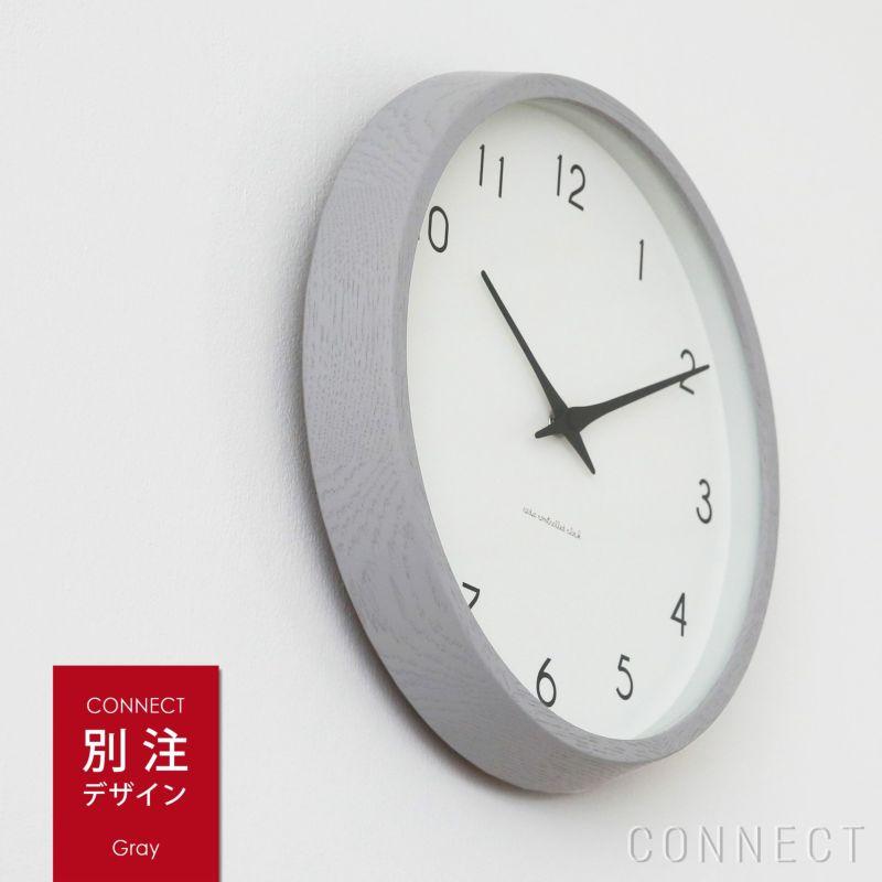 LEMNOS ( レムノス )/Campagne(カンパーニュ) グレー/オーク・ウレタン塗装 掛け時計 電波時計【CONNECT別注】