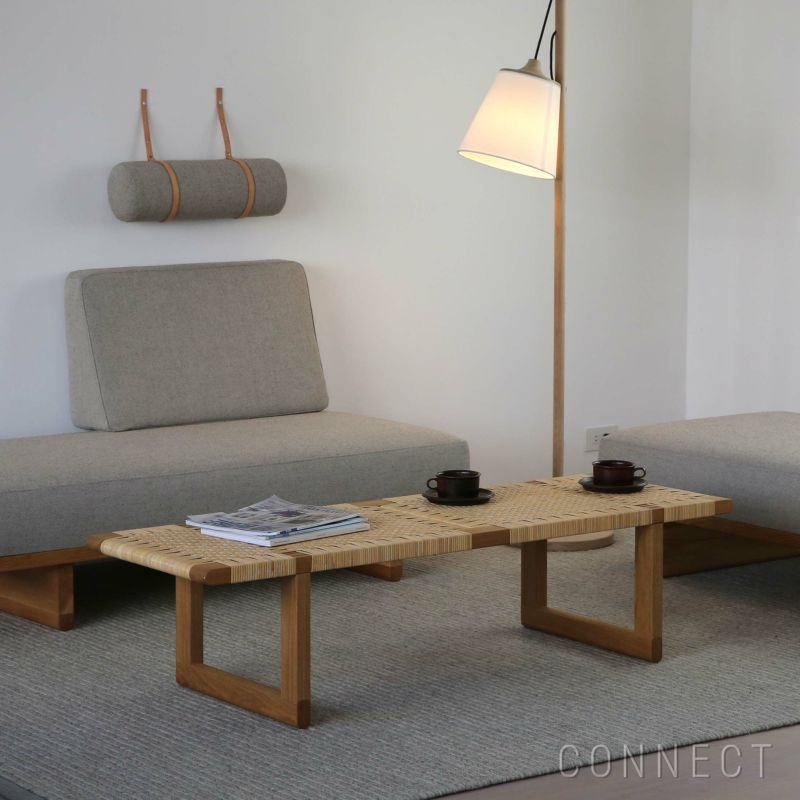 CARL HANSEN & SON(カール・ハンセン&サン)/BM0488 コーヒーテーブル/オーク材・オイル仕上げ・籐張り(ラタン)/サイドテーブル
