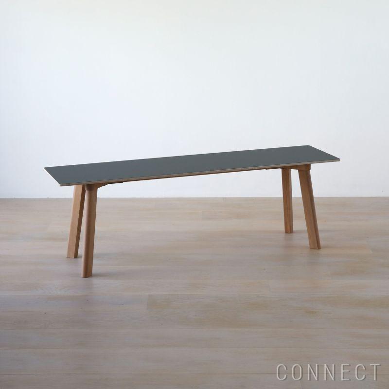 HAY(ヘイ) / Copenhague(コペンハーグ) / CPH DEUX 215(ベンチ) / Oak Matt Lacquer / ストーングレー / W1400