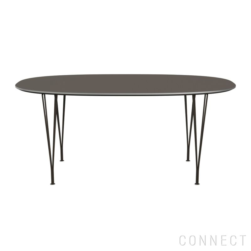 FRITZ HANSEN(フリッツ・ハンセン) / DININGTABLE(ダイニングテーブル)B616 / スーパー楕円テーブル / グレー / ブラウンブロンズ脚